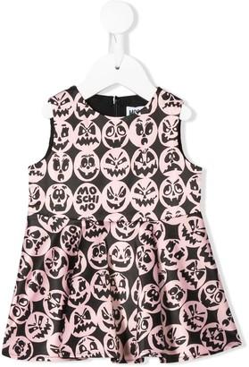 MOSCHINO BAMBINO Monster Print Sleeveless Dress