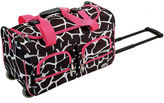 Rockland 22 Rolling Duffel Bag-Animal Print