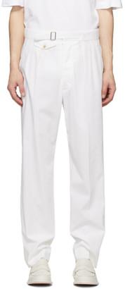 Maison Margiela White Cotton Straight Trousers