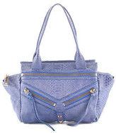 Botkier Blue Python Embossed Leather Trigger Satchel Handbag $348 New 90027382
