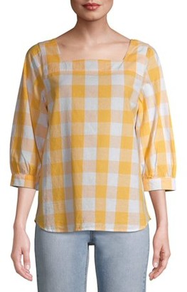 Time and Tru Women's Square Neck Top