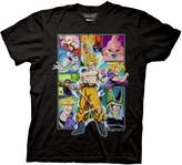 Ripple Junction Dragon Ball Z Character Frame Collage Adult T-Shirt 3XL