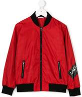 Dolce & Gabbana logo printed bomber jacket