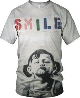 alloverprint.it Banksy Smile Girl Men's T Shirt