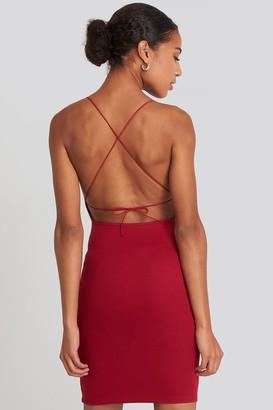 NA-KD Open Back Jersey Dress