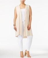 Belldini Plus Size Strappy-Back Duster Vest