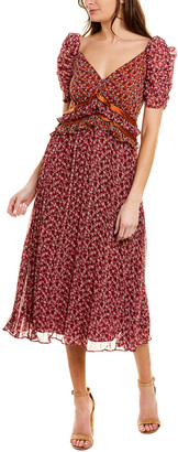 En Saison V-Neck Midi Dress