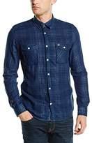 Tom Tailor POLO TEAM Men's Regular Fit Long Sleeve Casual Shirt Blue Blau (estate blue 6845)