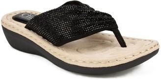Cliffs By White Mountain Cliffs Slip-On Comfort Thong Sandals - Calvert