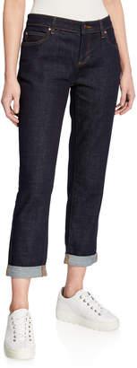 Eileen Fisher Petite Stretch Boyfriend Jeans