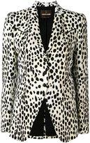 Roberto Cavalli spot print blazer - women - Cotton/Elastodiene/Viscose - 44