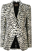 Roberto Cavalli spot print blazer