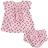 Babies R Us Cynthia Rowley Baby-Soft Girls Corduroy Polka Dot Dress Set - Pink (0-3 Months)