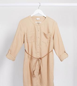 Mama Licious Mamalicious tunic blouse in camel