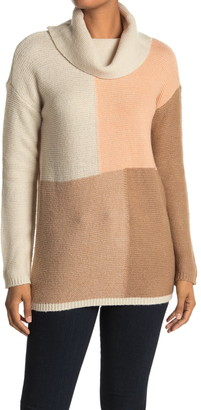 Cyrus Colorblock Cowl Neck Sweater
