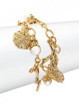 Oscar de la Renta Urchin Faux-Pearl Charm Bracelet