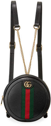 Gucci Ophidia Mini Round Leather Chain-Strap Backpack