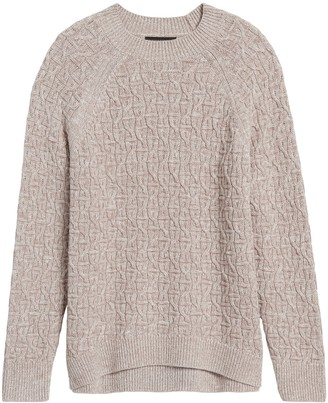 Banana Republic Petite Marled Cable-Knit Sweater
