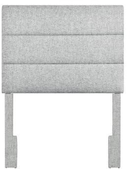 Three Posts Addington Upholstered Panel Headboard Size: Twin, Color: Platinum