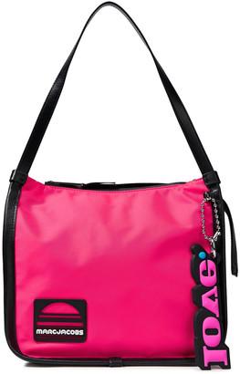 Marc Jacobs Leather-trimmed Appliqued Color-block Twill Shoulder Bag