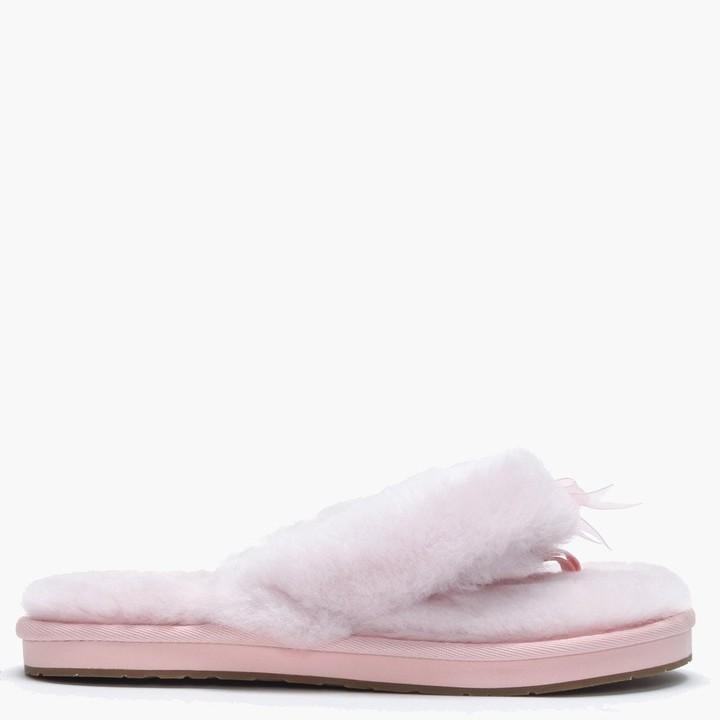 984c5a8221f Women's Fluff II Seashell Pink Flip Flop Slippers