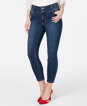Thalia Sodi Double-Button Skinny Ankle Jeans, Created for Macy's