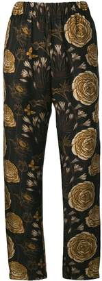 UMA WANG Rose print loose trousers