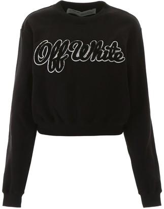 Off-White Logo Embroidered Sweatshirt
