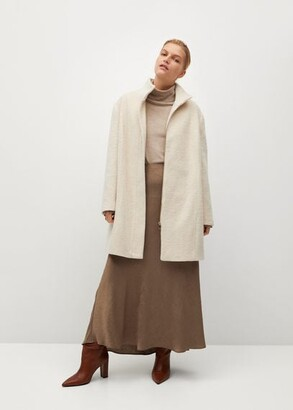 MANGO Funnel neck coat