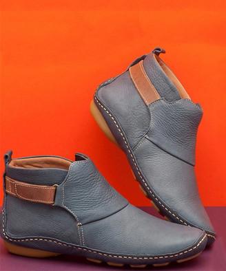 RXFSP Women's Casual boots Grey - Gray Ankle-Strap Bootie - Women