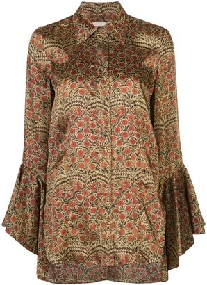 KHAITE Lottie floral paisley shirt