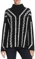 French Connection Ella Embroidered-Patten Sweater