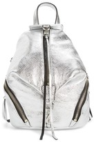 Rebecca Minkoff Mini Julian Metallic Leather Backpack - Metallic