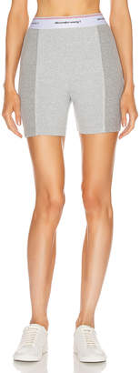 Alexander Wang Wash and Go Rib Biker Shorts in Heather Grey | FWRD