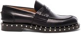 Valentino Soul Stud Leather Loafers