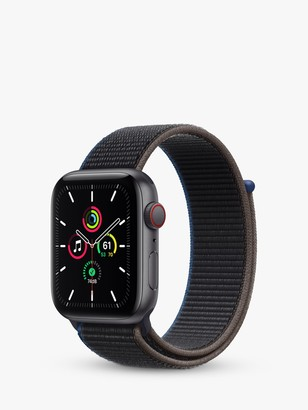 Apple Watch SE GPS + Cellular, 44mm Space Grey Aluminium Case with Charcoal Sport Loop