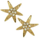 Nina Gold-Tone Swarovski Crystal Pavé Starfish Stud Earrings