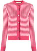Marni cropped patterned cardigan
