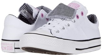 Converse Chuck Taylor(r) All Star(r) Maddie Pinstripe Slip-On (Little Kid/Big Kid) (White/Peony Pink/Black) Girl's Shoes