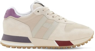 Hogan H383 Leather & Tech Sneakers