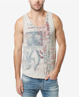 Buffalo David Bitton Men's Vintage Graphic Print Tank