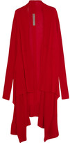 Rick Owens Draped Cashmere Cardigan - Red