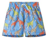 Stella Cove Toddler Boy's Giraffe Swim Trunks