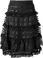 Temperley London ruffled A-line skirt