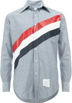 Thom Browne diagonal stripe shirt - men - Cotton - 0