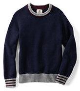 Classic Little Boys Drifter Crewneck Sweater-Gray Donegal