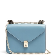 Valentino Panther-embellished small leather shoulder bag