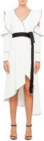 Self-Portrait Monochrome Asymmetric Wrap Dress