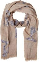 Elsa Marotta Praying Skeleton Cashmere Scarf