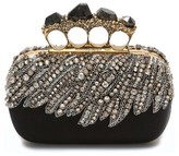 Alexander McQueen Eagle Wing Knuckle Box Clutch - Black